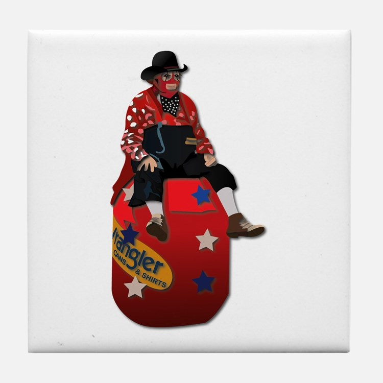Rodeo Clowns Tile Coaster