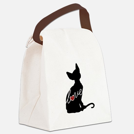 Sphynx Love Canvas Lunch Bag
