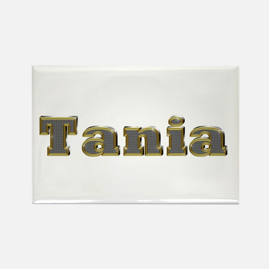 Tania Gold Diamond Bling Rectangle Magnet