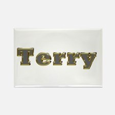 Terry Gold Diamond Bling Rectangle Magnet