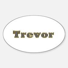 Trevor Gold Diamond Bling Oval Decal
