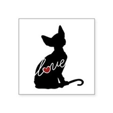 "Sphynx Love Square Sticker 3"" x 3"""