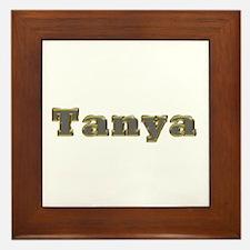 Tanya Gold Diamond Bling Framed Tile