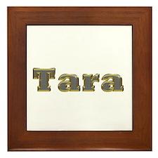 Tara Gold Diamond Bling Framed Tile