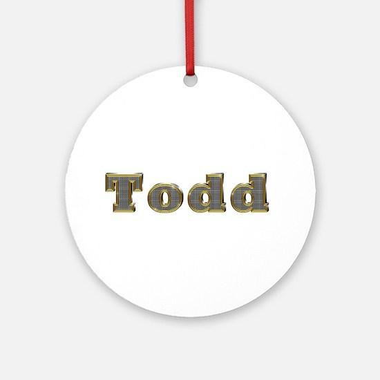 Todd Gold Diamond Bling Round Ornament