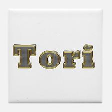 Tori Gold Diamond Bling Tile Coaster