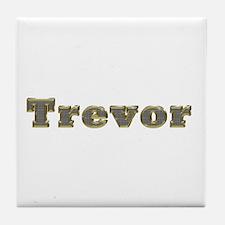 Trevor Gold Diamond Bling Tile Coaster