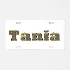 Tania Gold Diamond Bling Aluminum License Plate