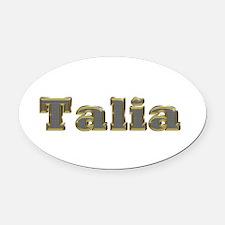 Talia Gold Diamond Bling Oval Car Magnet
