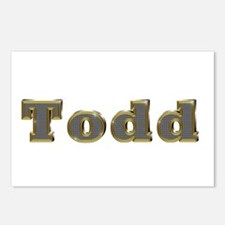 Todd Gold Diamond Bling Postcards 8 Pack