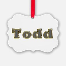 Todd Gold Diamond Bling Ornament