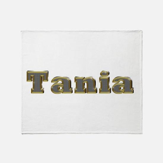 Tania Gold Diamond Bling Throw Blanket