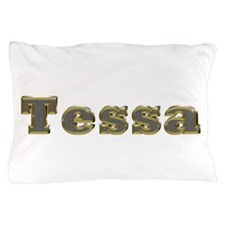 Tessa Gold Diamond Bling Pillow Case