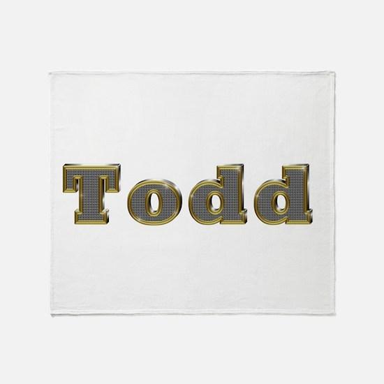 Todd Gold Diamond Bling Throw Blanket