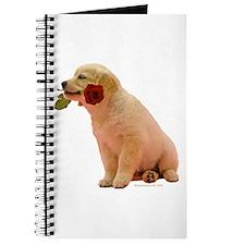 Golden Retriever Puppy & Rose Journal