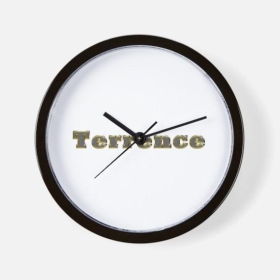 Terrence Gold Diamond Bling Wall Clock