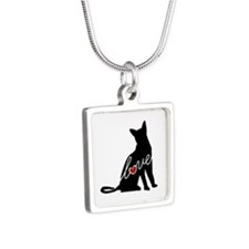Abyssinian Love Silver Square Necklace