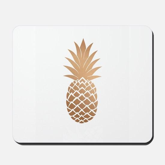 Gold pineapple Mousepad