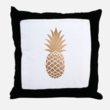 Gold pineapple Throw Pillow