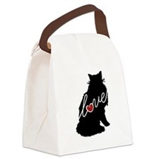 Norwegian Forest Cat Canvas Lunch Bag