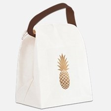 Gold pineapple Canvas Lunch Bag