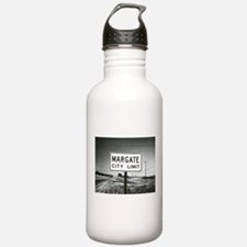 Margate City Limits Street Sign Water Bottle