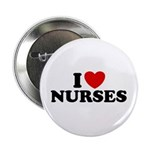 I Love Nurses Button