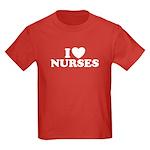 I Love Nurses Kids Dark T-Shirt