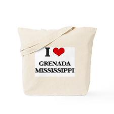 I love Grenada Mississippi Tote Bag