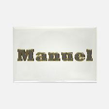 Manuel Gold Diamond Bling Rectangle Magnet