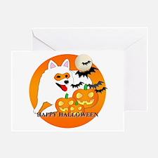 American Eskimo Halloween Greeting Card