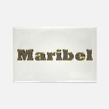 Maribel Gold Diamond Bling Rectangle Magnet