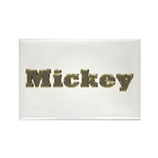 Mickey Gold Diamond Bling Rectangle Magnet