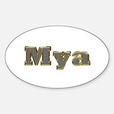 Mya Gold Diamond Bling Oval Decal