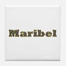 Maribel Gold Diamond Bling Tile Coaster