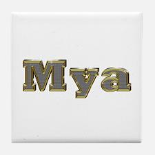 Mya Gold Diamond Bling Tile Coaster