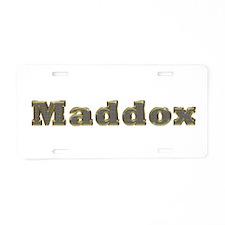 Maddox Gold Diamond Bling Aluminum License Plate