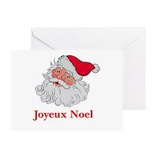 Santa Joyeux Noel Greeting Card