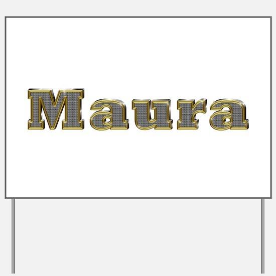 Maura Gold Diamond Bling Yard Sign