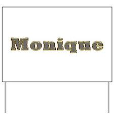 Monique Gold Diamond Bling Yard Sign