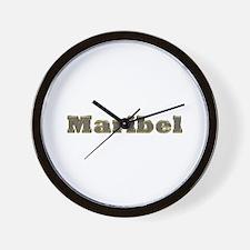 Maribel Gold Diamond Bling Wall Clock