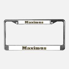 Maximus Gold Diamond Bling License Plate Frame