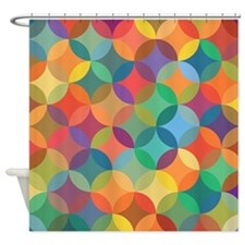 Modern Stained Glass Color Pattern Shower Curtain