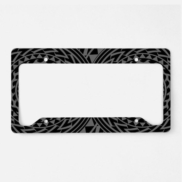 Island Tribal - Gray License Plate Holder