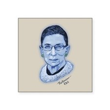 "Notorious RBG II Square Sticker 3"" x 3"""