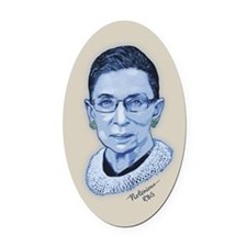 Notorious RBG II Oval Car Magnet