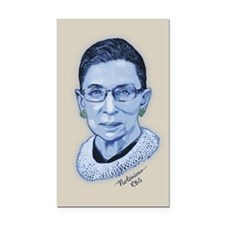 Notorious RBG II Rectangle Car Magnet