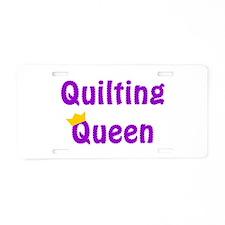 Queen of Quilting Aluminum License Plate