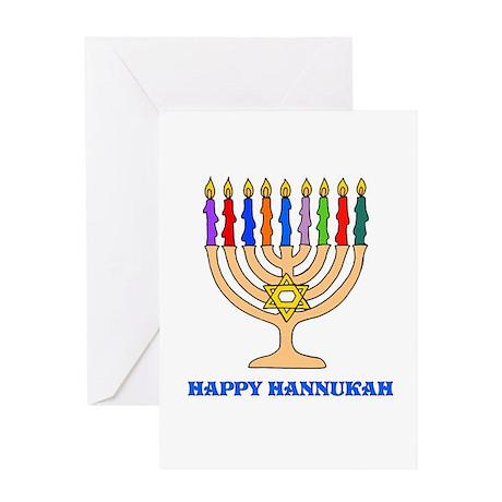 Hannukah Menorah Greeting Card