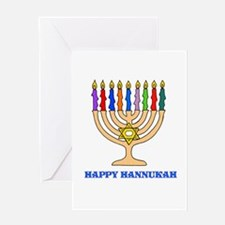 Hannukah Menorah Greeting Card